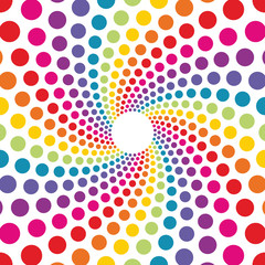 circular background made from colored dots
