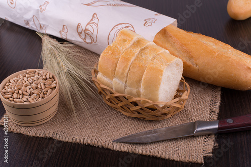 still life with bread and ears