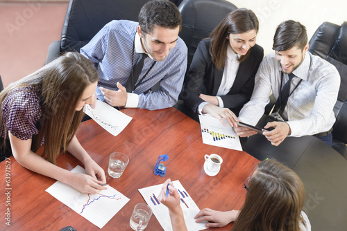 Business People Having Board Meeting