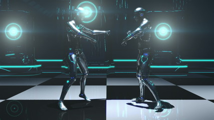 Robot Dance (Strobe Light)