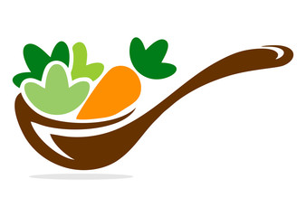 cooking vegetable logo