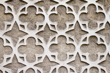 Moorish Patterned Wall Decoration Segovia, Spain