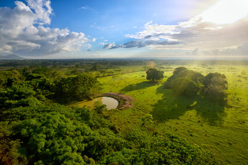 Aerial view of smooth terrain in Dominican Republic