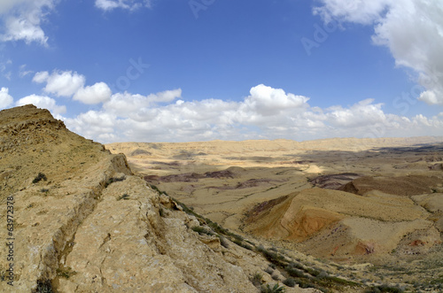 On the edge of Big Crater in Negev desert.