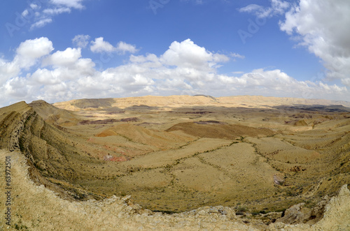The Big Crater ridge in Negev desert.