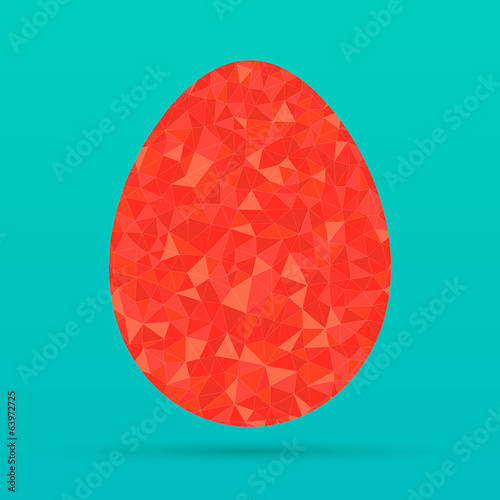 geometric polygonal egg