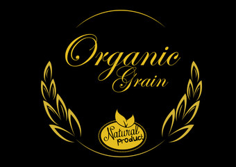 grain organic design. concept vector illustration