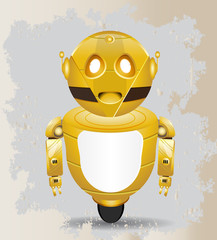 golden vintage robot