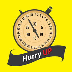 stopwatch - hurry UP. concept vector illustration