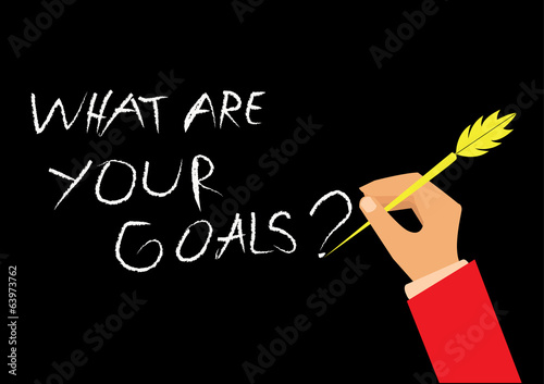 """What Are Your Goals"". concept vector illustration"