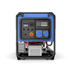 Portable generator isolated on a white background