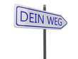 canvas print picture - Dein Weg