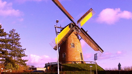 Windmill in small Dutch town Cadzand (Zeeland)