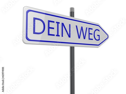 canvas print picture Dein Weg