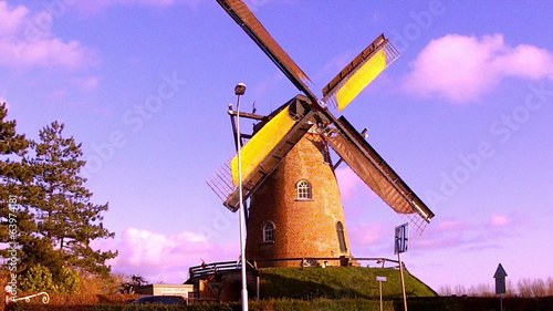 Windmill in small Dutch town Cadzand (Zeeland)