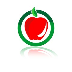 логотип яблоке в круге