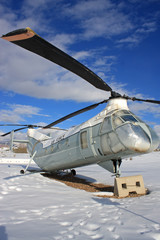 vintage military helicopter