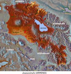 Armenia administrative divisions aerial view