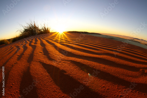 Sunset petrified dunes 1. Namibia