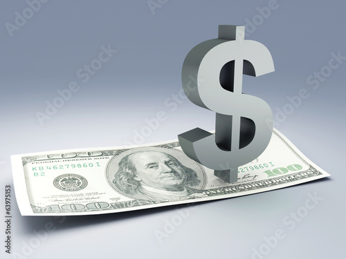 dollar bill and symbol