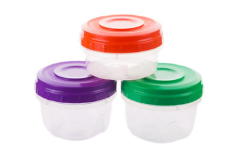 Set of food containers