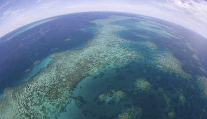 Barrier Reef from the air. Australia