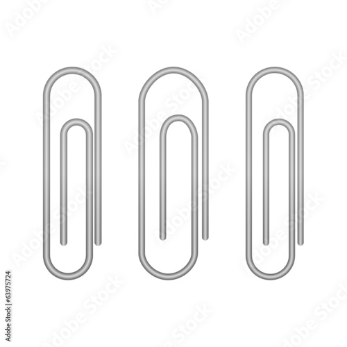 Paperclip icons on a white