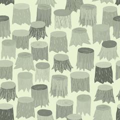 Tree Stump seamless pattern tapestry in grey
