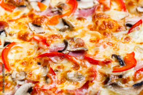Closeup picture of pizza