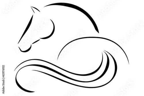 Fototapeta Horse logo vector