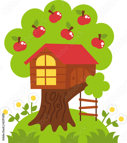 tree house – vector illustration