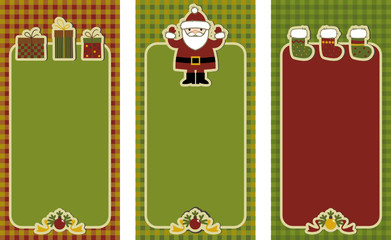 set of labels for scrapbooking. merry christmas