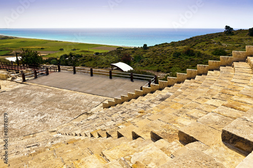 Historic Roman theatre of Kourion in Cyprus.