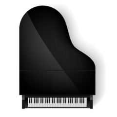 Piano in top view
