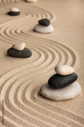 Pyramids  made of  stones standing on the sand