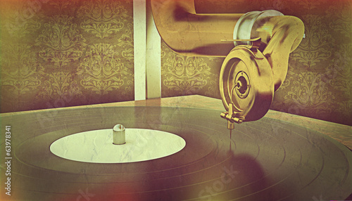 Gramophone with retro effect