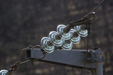 Isolatori in vetro per linee elettriche