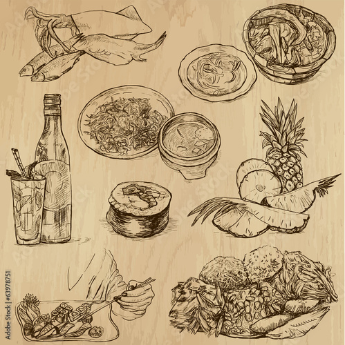 Food and Drinks around the World -vector set no. 9