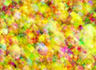 Multicolored bright pixel texture in Chaotic Arrangement