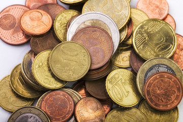 Detail of Euro Coins