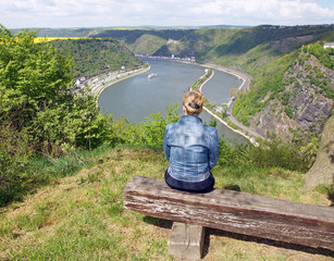 Der Rhein am Loreley Felsen - Germany