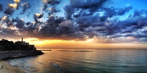 amazing tel aciv sunset