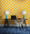 Elegant chic contemporary home office interior