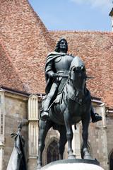 Statue of King Mathias (Matyas) in Cluj, Romania