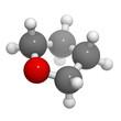 Tetrahydrofuran (THF) solvent molecule, chemical structure.
