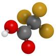 Trifluoroacetic acid (TFA) molecule, chemical structure.