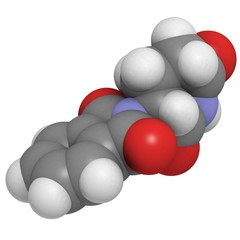 Thalidomide teratogenic drug molecule.