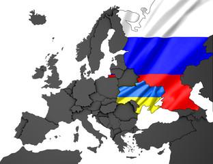 Ukraine- Russland Karte 3