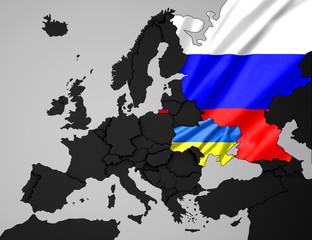 Ukraine- Russland Karte 4