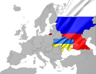 Ukraine- Russland Karte 5